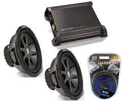 kicker car audio 10 sub system cvr10 dual 2 ohm subwoofer pair kicker car audio 10 sub system cvr10 dual 2 ohm subwoofer pair dx500 1 amp install wire kit