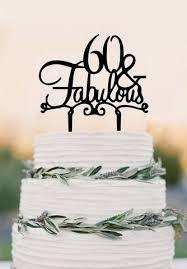 60 Cake Topper Fabulous 60th Birthday Cake Topper Wedding Cake