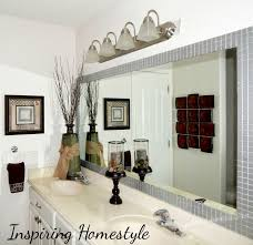bathroom mirror frame tile. Modren Tile Wonderful Hotel Bathroom Mirrors Mirror With Tile Border  Tiles In Frame M