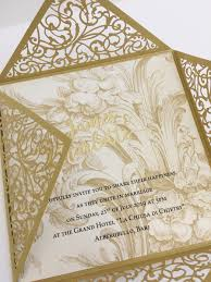 Baroque Wedding Invitations Laser Cut Gold Baroque Wedding Invitation Marryme By Amoretti