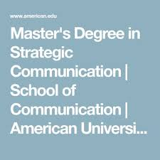 Masters Degree In Strategic Communication School Of