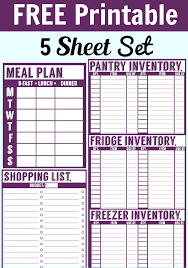 Free Weekly Meal Planner With Grocery List Free Printable Meal Planner Set Nancy On The Home Front