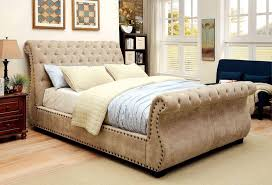 Upholstered Sleigh Bed Diy Upholstered Sleigh Bed Queen With Tufted