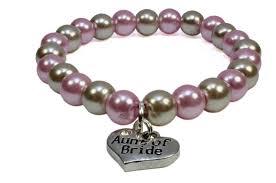 stylish light pink mocha taupe pearl single line bracelet lauren with bridesmaid charm