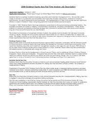 Resume For Goldman Sachs Updated Goldman Sachs Resume For Study
