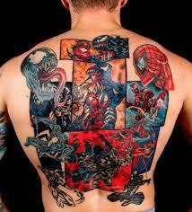 Nejlepší Tetování Spider Man Vs Venom Přes Celé Záda ábíčkocz