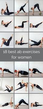 Abs Exercise Chart 18 Best Ab Exercises For Women Nourish Move Love