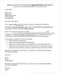 Sample Cover Letter Internship Cover Letters For Internship 7 Free Word Pdf Documents Download