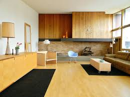 mid century modern fireplace mantel interior