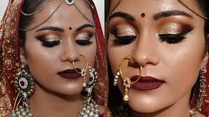 indian bridal makeup tutorial for dark skin in hindi स वल र ग क ल ए ब र इडल म कअप