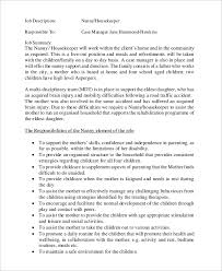 nanny housekeeper job description housekeeping job duties