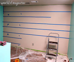 diy paint striped wall