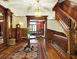 image of victorian style house stair