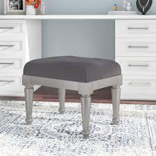 padded vanity stool. Interesting Vanity Willa Arlo Interiors Guillaume Upholstered Vanity Stool U0026 Reviews  Wayfair Intended Padded I