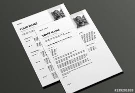 Modern Cover Letter Templates Modern Resume And Cover Letter Layout Buy This Stock Template And