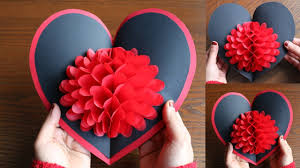 Paper Crafted Flowers Diy Flower Pop Up Card 6 Paper Crafts Handmade Craft Youtube