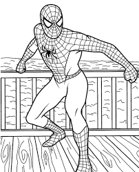 Spiderman paint by number, high end and easy to paint. Godd Quality Spiderman Coloring Page Topcoloringpages Net