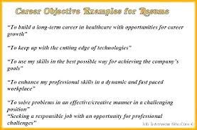 Effective Career Objective For Resumes Resume Career Objective Examples Job Objective Resume Retail