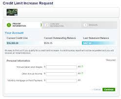 citi credit limit request