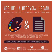 hispanic heritage month art and essay contests deadline   hispanic heritage month poster spanish 2017