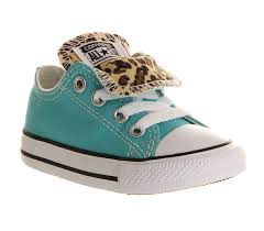 converse for kids. converse double tongue low (kids) turquoise snow leopard exclusive - got them, will for kids e