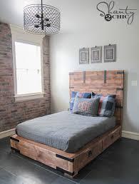 diy full size bed shanty2chic