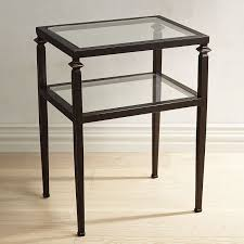 lincoln glass top end table  pier  imports
