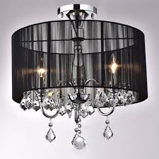 crystal flush mount chandelier. Black And Chrome Semi Flush Mount Crystal Chandelier - B381-BCL-