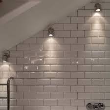 wall spot light wall mounted light in a sloping bathroom ceiling ceiling light sloped lighting