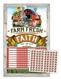 Attendance Chart Farm Fresh Faith Attendance Chart And Stickers