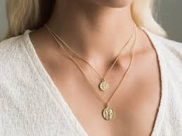 dainty gold coin necklaces gold