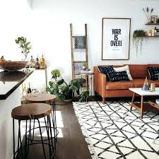 black and white rug living room rugs astounding brown chairs orange patterned floor runner black and white rug