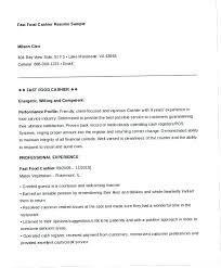 Resume For Fast Food Cashier Fast Food Resume Sample Mulhereskirstin Info