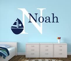 Personalisierte Name Nautischen Baby Room Decor Wandaufkleber Anker