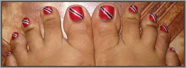 Trinidad Flag Nail Design So Cute Happy Independence Trinidad And Tobago Lots Of