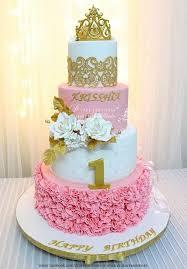 Princess Theme Birthday Cake By D Cake Creations Alis 1st Bday