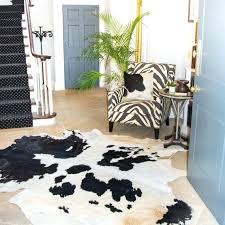 natural cowhide rug image 0 clean cow hide rug
