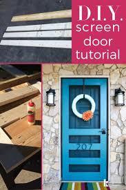 Homemade Screen Door Designs Diy Screen Door Tutorial Free Plans