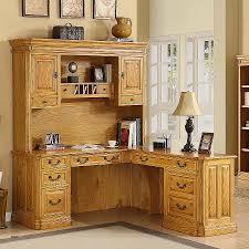 office furniture desk vintage chocolate varnished. Light Oak Office Furniture New Modern Brown Varnished Maple Corner Desk With Small Monitor Stand Vintage Chocolate O