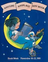 official children s book week poster 1981 wendy watson b 1942 reading