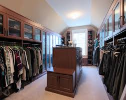 luxurious his and hers custom closet with island hopkinton ma