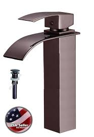 bathroom vessel sinks and faucets. square style oil rubbed bronze bath bathroom glass vessel sink faucet drain mixer sinks and faucets
