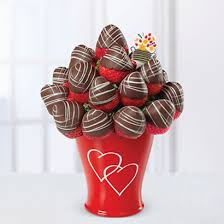chocolate covered strawberries fruit bouquet better than a dozen roses