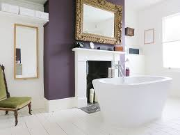 purple bathroom color ideas. Brilliant Ideas View In Gallery Exquisite Eclectic Bathroom With A Purple Accent Wall  Design Mad About Your House For Purple Bathroom Color Ideas I