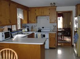 Small Kitchen Reno Wood Kitchen Cabinets Dark Gray Granite Countertop Kitchen Island