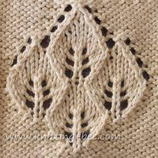 Leaf Knitting Pattern Cool Four Leaf Lace Panel ⋆ Knitting Bee