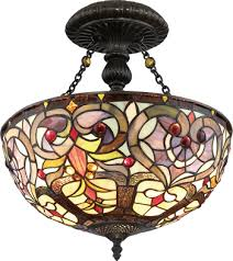 stained glass ceiling light. Tiffany \u0026 Stained Glass Ceiling Lights Light T