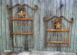 vintage wrought iron outdoor wall decor
