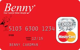 benny card envelope