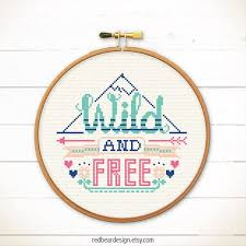 Funny Cross Stitch Patterns Free Best Funny Quotes Cross Stitch Pattern Wild And Free Counted Cross